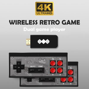 4K HD Video Game Player Wireless Handheld Game Joystick HDMI 600 AV 568 Retro Classic Games Wireless Portable Game Consoles Dual Players