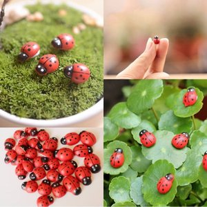 beatle Artificial mini fairy garden ladybugs insects miniatures gnome moss terrarium resin crafts bonsai home decor