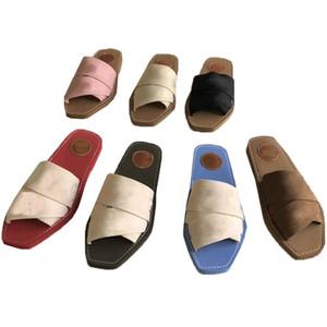 Yeni Çapraz Dokuma Roma Terlik Sandalet Ayakkabı Inci Yılan Baskı Slayt Yaz Geniş Düz Bayan Tuval Sandalet Luxurys Tasarımcılar Terlik