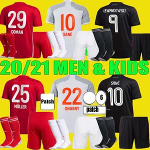 20 21 Bayern Sane Münih Futbol Forması 2020 2021 Lewandowski Muller Hernandez Munchen Futbol Gömlek Gnabry Kimmich Erkekler Kids Kiti Set Üniforma