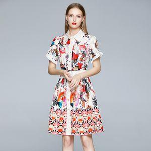 2021 New Women Fashion Fashion Summer Es Starfish Shell Mensaje corto Mini Vestidos Longo Calidad Camisa YR7Q