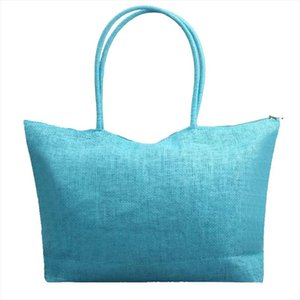 bags for women 2020 Hot Sale Simple Vintage Candy Color Large Capacity Straw Beach Bags Casual Leisurely Shoulder Bag