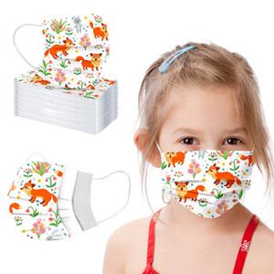 Christmas Face Mask Маска Student Дети Одноразовая лица с Elastic уха Loop 3 слойный дышащий для блокировки Маски от пыли воздуха для предотвращения загрязнения