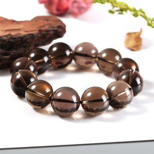 17.5-18mm crystal bracelet natural tea crystal smoky crystal bracelet bracelet for men