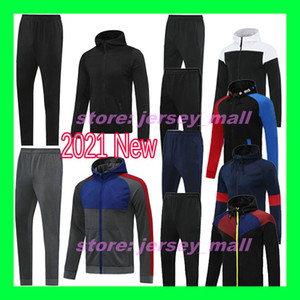 20 21 New Top Quality Real Madrid MBAPPE Paris 2020 2021 Juve Messi hoodie soccer jacket tracksuit football zipper winter coat with pants