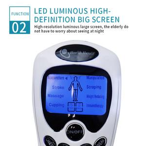 8 Modelle Deutsc Elektro Herald Akupunktur EMS Körper Mas Digital-Therapie-Doppelausgang-Maschine für Ba Ne Fußpflege