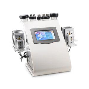 NEW 6 in1 40K Vacuum Ultrasonic Cavitation Radio Frequency Multipolar RF Body Slimming Machine Skin Lifting Tighten Beauty machin