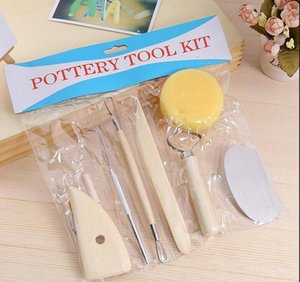 Ceramics Clay Sculpture Modelling Kit Wooden Handle Pottery Tools Set Stainless Steel Pottery #M3652