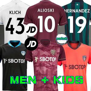 Homens + Crianças 20 21 Leeds camisa de futebol em casa United 2020 2021 Harrison COSTA Alioski Klich Hernandez BAMFORD Rodrigo PHILLIPS terceiro 100TH