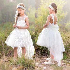 2021 Hot Floral Flower Girl Vestidos Child Child Pageant Vestidos Hermosa Flor Muchacha Vestidos de novia