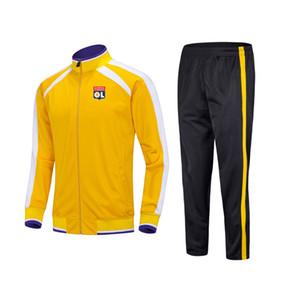 20-21 Olympique Lyonnais Football Club Soccer sports Kids football tracksuits Running suit outdoor training sets Men's Sportwear