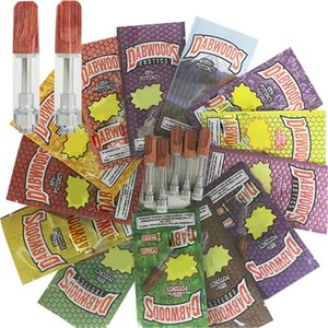 Dabwoods Vape Cartaridge 510 Thread Cartridges E Cigarettes Vape Carts 1.0ML .8ML Wood Tip Empty Vape Pen Vaporizer Glass thick Oil Atomizer
