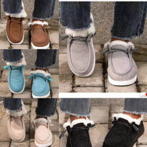 Hot sale- Cotton slippers women's snow boots warm casual indoor woman size winter heel knee high boot wa pajamas party wear non boot bean