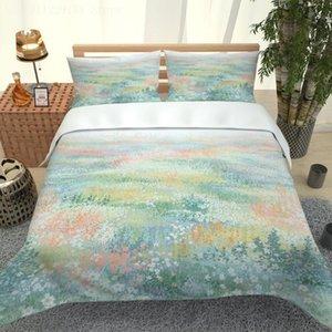 3D beding rainha edredão set floral listras cama menino quarto conjunto único duplo cobertura de edredão king size
