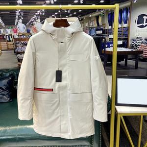 2020 رجل الشتاء الخريف أسفل معطف سترة عارضة أزياء الشتاء الفاخرة ذات الحجم الكبير للماء قماش النايلون مريح 90٪ بطة بيضاء معطف دافئ