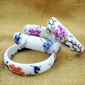 Estilo Chinês Handmade Cerâmica Bangles Pastel Charm Bangle presentes para mulheres Pulseiras retroas étnicas de jóias 2020 atacado1