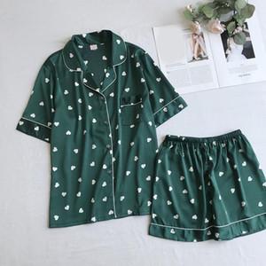 Donne sexy Zhdaor Estate Nuovo Daily di alta qualità manica corta Pantaloncini Sleepwear Pigiami Pant Imposta la nave libera N4