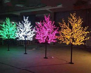Handmade Artificial LED Cherry Blossom Tree night Light New year Christmas wedding Decoration Lights 2m  1248pcs LEDs LED tree light