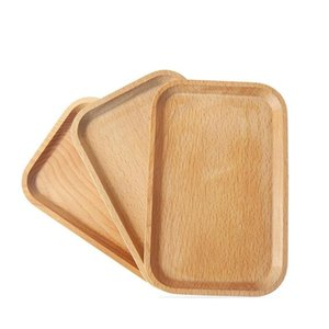 Piatto in legno Piatto Piatto Piatto Piatto Piatto Piatto Dessert Biscotti Piatto Piatto Piatto Piatto Tea Server Vassoio Tazza di legno Portabicchieri Tableware Mat VF1574 4WAL