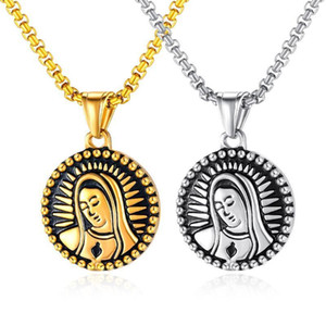 FATE LOVE New of 2020 Christian the Virgin Mary Men Pendants Necklaces Stainless Steel 55cm Chain Classic Fashion jewelry1