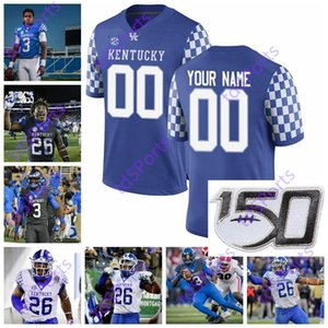 Кентукки Wildcats College Football Jerseys 1 Lynn Bowden Jr. 3 Terry Wilson 26 Benny Snell Jr. 8 Дэнни Кларк Асим Роуз младший