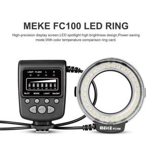 Speedlite LED فلاش ضوء الدائري speedlite الدائري ملء مصباح meike fc100 واحد الاتصال نوع الشعبية دليل العالمي ل كاميرا DSLR