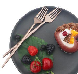 24pcs set Black Gold Dinnerware Cutlery Set Dessert Fork Flatware Set 18 10 Stainless Stee Kitchen T jllyKb lajiaoyard