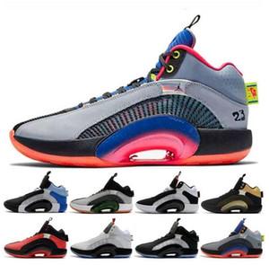 Nike air jordan 35 retro AJ35 para hombre de los zapatos de baloncesto 35s centro de gravedad Niños Negro Oro Hombres Bred entrenador deportivo zapatillas de deporte