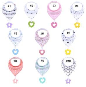 Baby Bandana Geifer Lätzchen Lätzchen Baby Sabbern und Zahnen Kleinkinder Bandana Zahnen Geschenkset Für Säuglinge Cartoon INS Lätzchen Spucktücher M2983