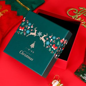 High-end new heaven and earth cover Apple candy packaging carton Christmas hat gloves gift box