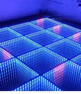 1pcs 50cmx50cm LED blinkt Spiegel Teppich Aisle-Läufer mit Fernbedienung Bar Club Hochzeit T-Station Bühnendekoration Props