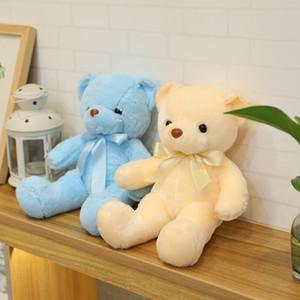 Fashion Plush Toys Stuffed Dolls 45CM Teddy Bear With Scarf Plush Dolls Girl's Favorite Gift Chiristmas Gift