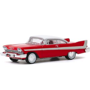 Plymouth Greenlight 1958 Vintage HOMMAT Fury Christine 1:64 Car Model Alloy Metal Diecast Toy Vehicle Kid Gift Toys For Boys