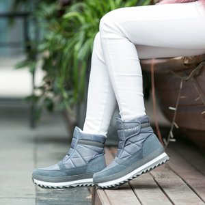 winter new style, snow boots, women waterproof, anti skid snow shoes, low cotton shoes, thick bottom lovers short boots. 201020