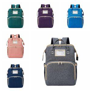 БЕСПЛАТНАЯ Сумка Mommy Backpack рюкзак USB CRIB Большой Носитель Детский Кетрет Charge Baby Baby Baby Путешествуйте Родительские Сумка Сумка Подгузник Portabl Wuli
