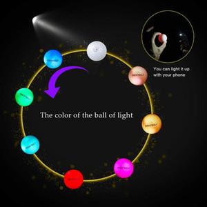 당신의 선택을 Crestgolf의 6PCS / 팩 번쩍이는 골프 공 밤 발광 플래시 라이트 발광 LED 골프 공-6 색