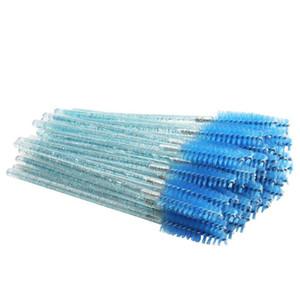 600pcs / lot Tek Mikro Kirpik Fırçalar Kristal Maskara Asalar Aplikatör Kaş Tarak Kirpik Fırçalar Makyaj Aracı Seti