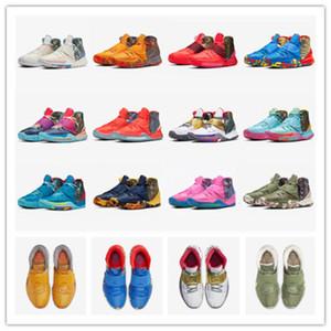 New Men Kyrie 6 Pre-Heat Shanghai Beijing Designer Sneaker Irving 6s NYC Miami Houston Heal The World Basketbal Shoes CQ7634-409-401-601