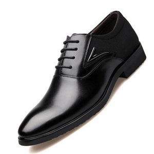 2020 New Spring Autumn Men Dress Shoes Fashion men's Pointed Toe Wedding Groom Shoes Luxury Men Oxford Shoes Plus Size 48