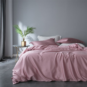 Women Luxury Pink Bedding Set 60 Double-sided Tencel Healthy Duvet Cover Set Queen King Bed Linen Home Textile
