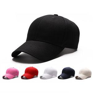 puro algodão boné de beisebol versão coreana de homens e mulheres chapéu bordados fabricantes cap publicidade personalizada detectar cap cor pura