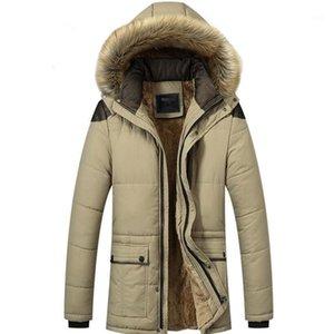 Cappotto di cotone-imbottito in cotone in cotone in cotone nuovo addensato da uomo