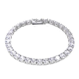 925 6mm Sterling Silver Hip Hop Single-row Tennis Chain Zircon Men's Bracelet Silver Gold Necklace Jewelry