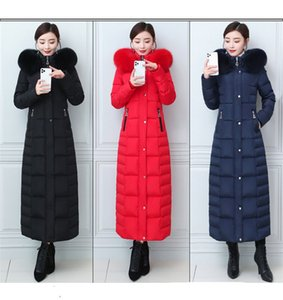 2020 New Down Jacket Women Long Below The Knee Self-Thickening Really Fox Big Fur Collar Fashion Waist-Controlled Slimming and Warm Coat