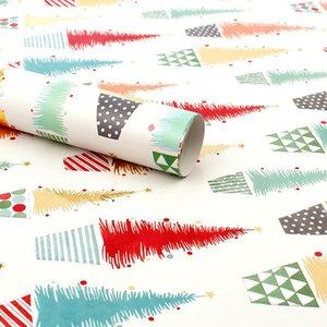 Noel hediyesi ambalaj kağıdı 50 * 70 cm rulo doğum günü hediyesi ambalaj kağıdı barış ve aşk kar tanesi Noel ağacı hediye ambalaj kağıdı DHB1512