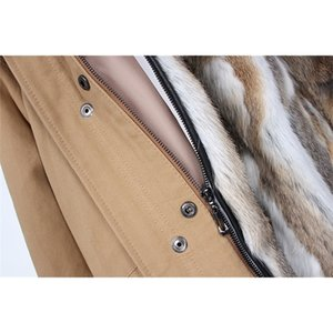 maomaokong Rabbit Parkas Winter Jacket Women Parka Real Fur Coat 201125