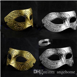 masquerade 2015 Men's retro Greco-Roman Gladiator masks Vintage Golden Silver Carnival Halloween Costume Party Mask