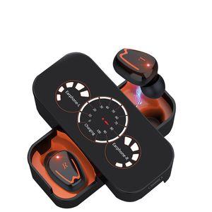 hot Bluetooth headset binaural wireless headset TWS in-ear digital display sports Cell Phone Earphones free shipping