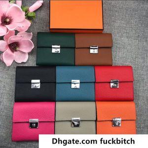Top Qualité Portefeuilles courtes douces en cuir entièrement en cuir femme porte-cartes sacs de sacs de sacs de la mode cuir véritable cuir véritable vient avec boîte