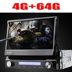 Evrensel 1 DIN Android 9 8 Çekirdekli Araba DVD Oynatıcı GPS WIFI BT Radyo BT USB 64 GB ROM 4G SIM LTE Ağ SWC RDS CD OBD21